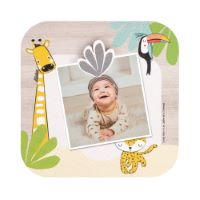 Picture frame with wooden magnet Gigi the giraffe