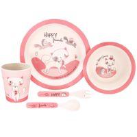 """Kit de comida de bambú para bebés """"Lily la Gatita"""""""
