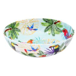 Large salad bowl in melamine  - 31cm - Toucans of Rio