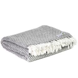 Comfortable throw in cashmere and wool: Mouse Grey - 130 x 230 cm