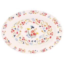 "Oval presentation plate - ""Wildflowers"""