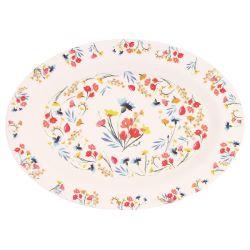 "Oval presentation plate - ""Wildflowers"""