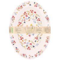 """Ovale Servierplatte aus Bambus 39,5 x 29 cm - """"Feldblumen"""""""