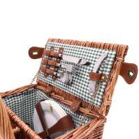 Cesta picnic para 4 personas Saint-Germain - Vichy verde