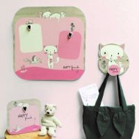 Picture frame with wooden magnet Lily the Cat