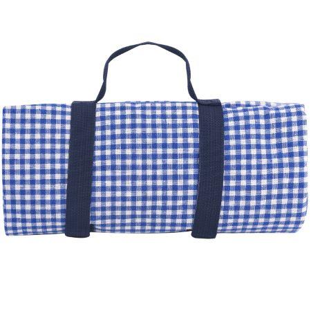 Picknickdecke XL mit blau Karomuster wasserundurchlässiger (280 x 140 cm)