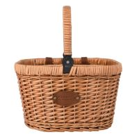 """Bicycle Basket  """"Chantilly"""" - Red Gingham - For picnics or shopping"""