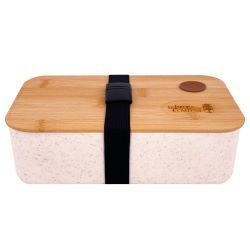 Lunchbox / Wheat fibre mobile lunch box with hermetically sealed bamboo lid