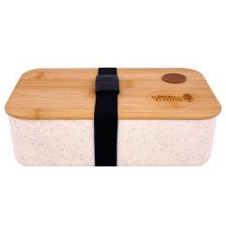 Lunchbox / Scatola da pranzo nomade in fibra di grano con coperchio in bambù
