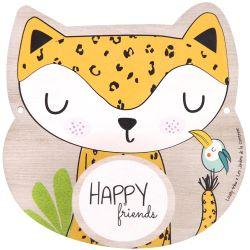 """Houten kinderkapstock """"Happy Friends"""" met """"Gigi de giraf"""""""