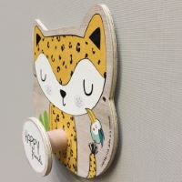 "Wooden coat hook ""Gigi the giraffe"""