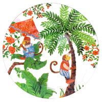 Plato transparente de vidrio templado 24,5 cm - Monos de Bali