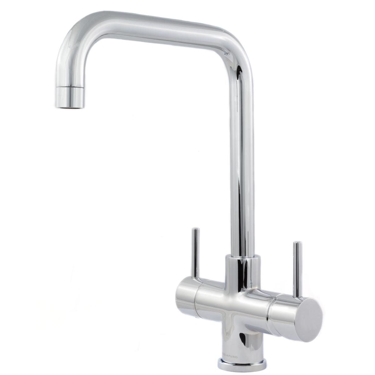 Monza 2 Lever 3 Way Kitchen Filter Tap Chrome