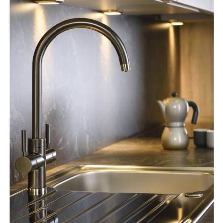 Abode Pronteau 3 in 1 Prostream Steaming Hot Kitchen Tap Graphite
