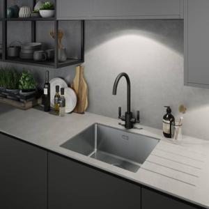 Abode Aquifier Atlas 3-Way Kitchen Water Filter Tap Matt Black