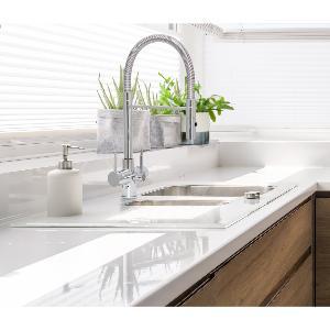 Acquapuro Aquila 3-Way 3 Lever Spray Kitchen Filter Tap Chrome