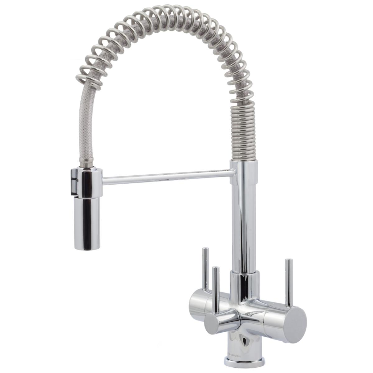 Milano Chrome Spray 3 Lever Kitchen Filter Tap, 3 Way Tap