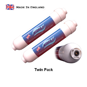 Inline Filter Push-Fit Drinking water Filter Filter Twin Pack