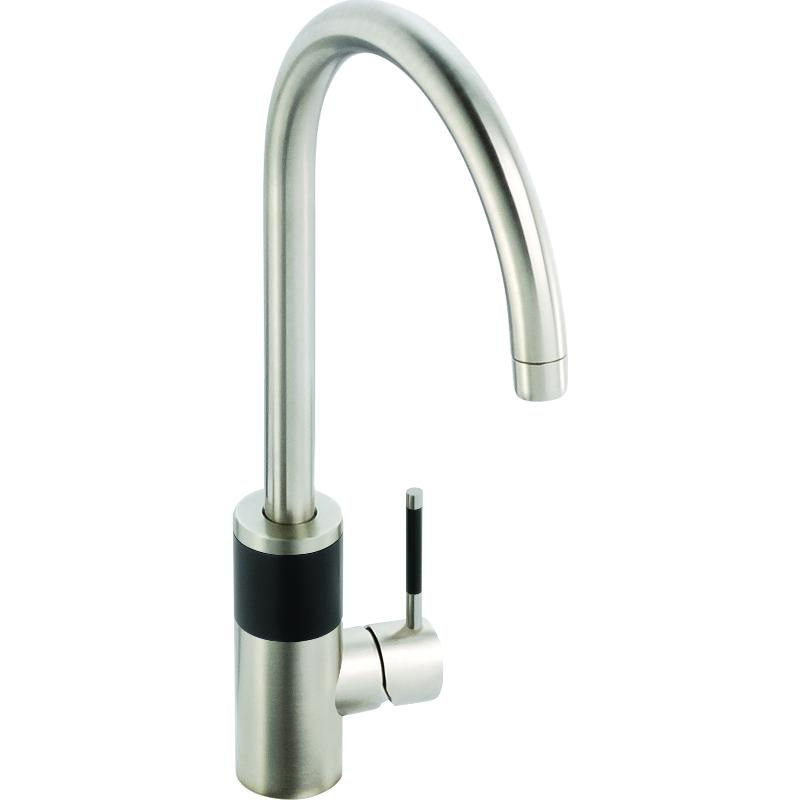 Abode Aquifier Triana 3-Way Kitchen Filter Tap Brushed Nickel & Inline Drinking Water Filter
