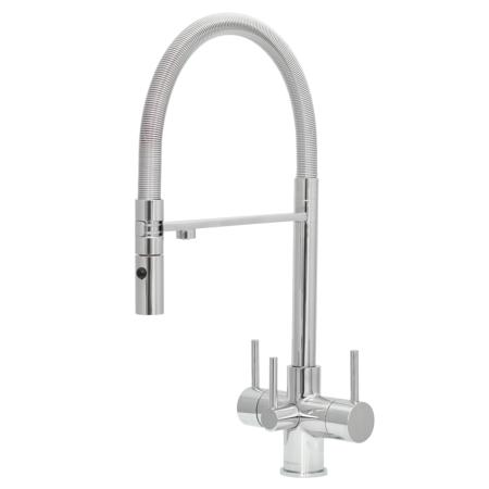 Acquapuro Aquila 3-Way 3 Lever Spray Kitchen Filter Tap Chrome