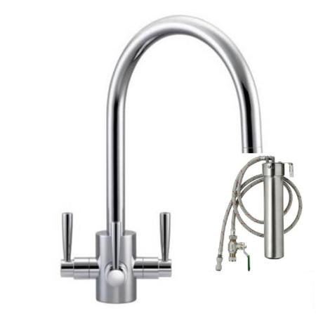 Franke Olympus Filterflow Tap Silk Steel & Franke Filterflow Water Filter