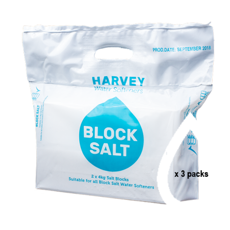 3 Bags of Harveys Block Water Softener Salt