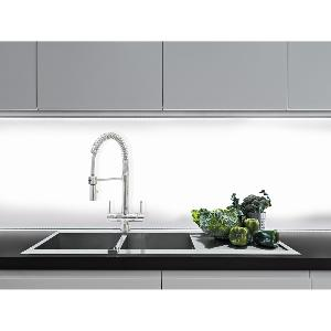 Milano Chrome Pull Down Spray 2 Lever, 3 Way Kitchen Filter Tap