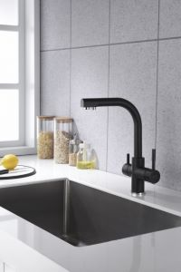 Alabama 3-Way Kitchen Filter Tap Black