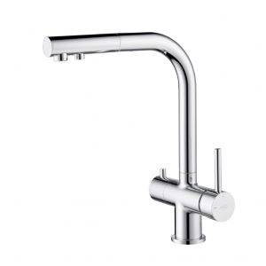 Apala 3-Way Pull-Out Kitchen Filter Tap Chrome