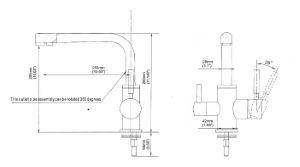 Supreme 3-Way Kitchen Filter Tap Brushed Steel