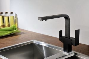 Taupo 3-Way Kitchen Filter Tap Black
