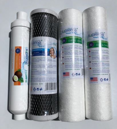 Supreme RO5 Reverse Osmosis 12 month Replacement Filter Set