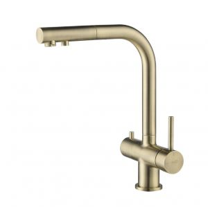Apala 3-Way Pull-Out Kitchen Filter Tap Antique Brass