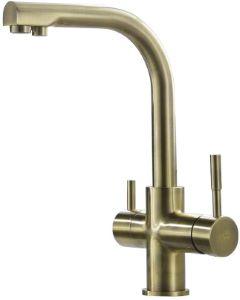 Alabama 3-Way Kitchen Filter Tap Antique Brass