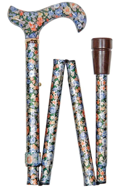 Elite Folding Walking Stick - Autumn Gold