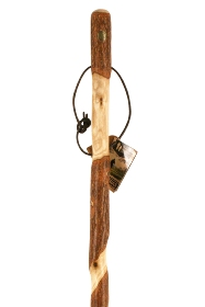Brazos Twisted Sassafras Handcrafted Hiking Stick