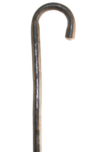 Hazel Crook Walking Stick Natural Bark Finish - Extra Long