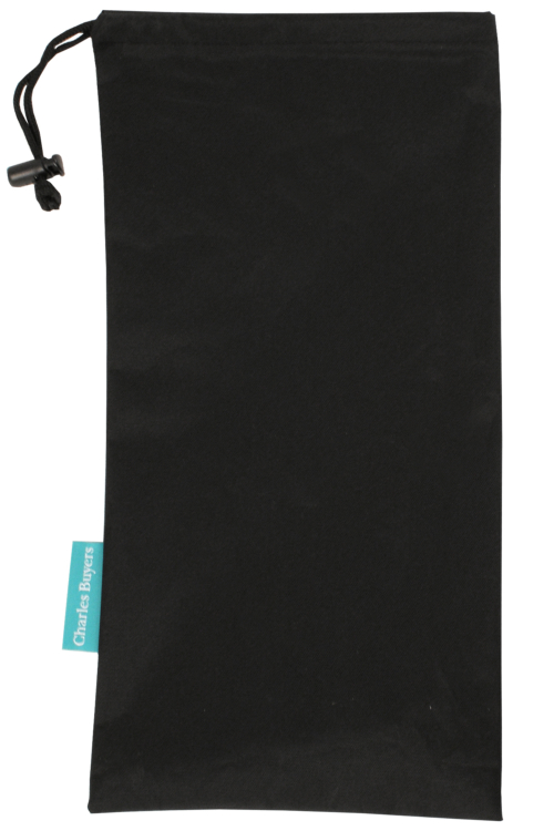 Black Drawstring Pouch for Folding Sticks
