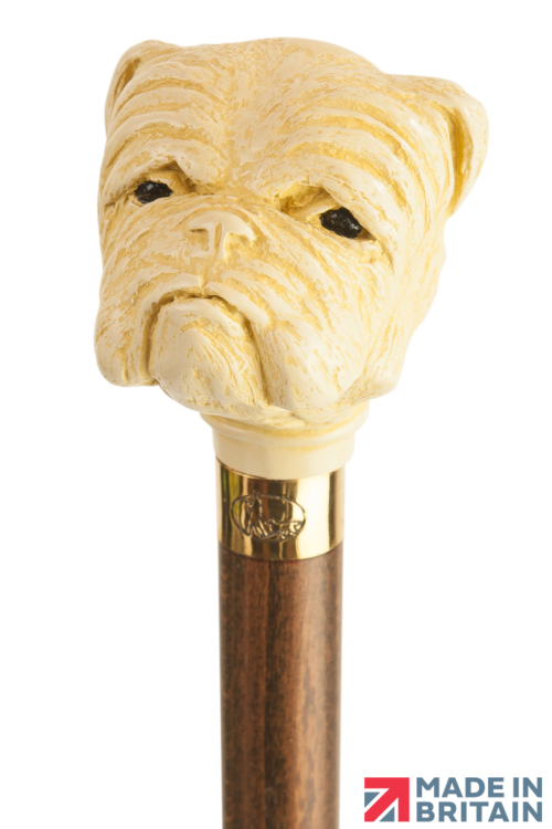 Bulldog Headed Collectors Cane