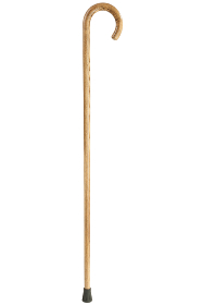 Natural Acacia Walking Stick with Crook Handle