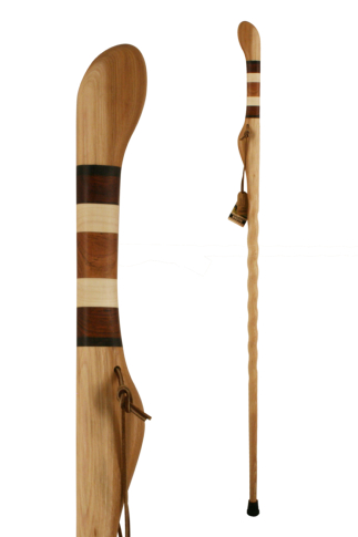 Brazos Safari Exotic Wood Handcrafted Hitchhiker Stick