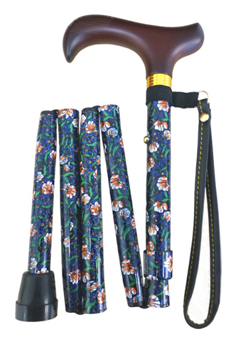 Shorter Folding Walking Stick - Morris Pattern