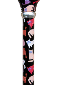 Animal Friends Derby Adjustable Walking Stick - Crazy Cats