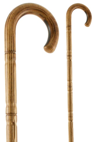 Bamboo Acacia Walking Cane - Crook Handle