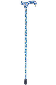 British Wildflowers Derby Adjustable Walking Stick - Daisies