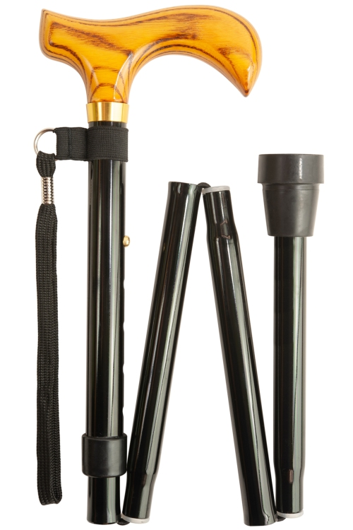 Black Deluxe Folding Walking Stick