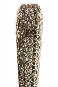 Chrome Plated Filigree Promenade Cane