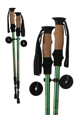 Pair Shock Absorbing Hiking Poles - Green