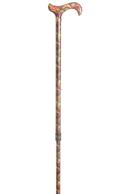 Fashion Derby Adjustable Walking Stick - Fan Marble