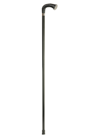 Black Crutch Walking Stick with Swarovski Crystal Pave